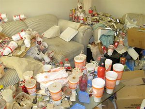 dirty apartment