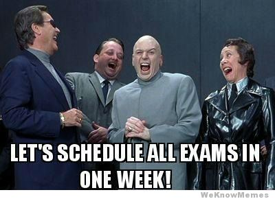 lets-schedule-all-exams-in-one-week