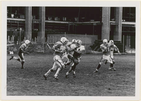First_intercollegiate_football_game_between_Towson_State_College_and_Johns_Hopkins_University_Fall_1970